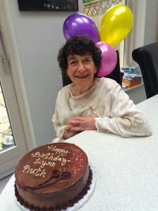 Lynn ruth Miller on her 82nd birthday