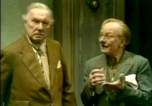 John Gielgud (right) with Ralph Richardson in No Man's Land