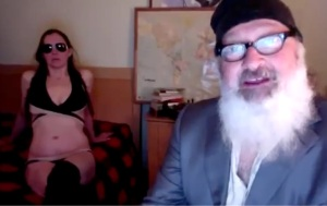 Randy Quaid and his wife Avi in the oddly mesmeric video clip