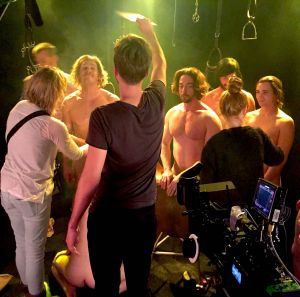 The climactic orgy scene in Trouser Bar