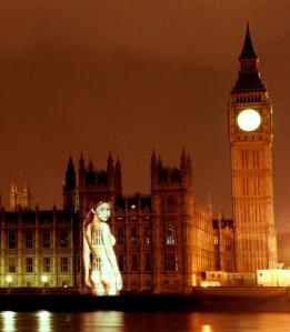 Gail Porter projected her ideas on Parliament