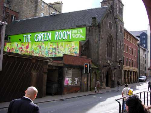 Calvin Wynter (bottom left) looks at the Green Room venue in Edinburgh, 2007