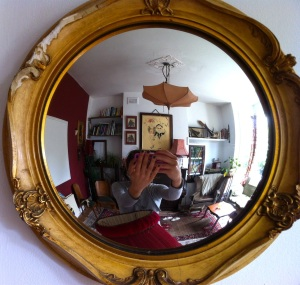 Polly Trope's selfie of herself in a mirror