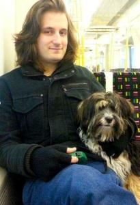 Alexander Bennett and dog