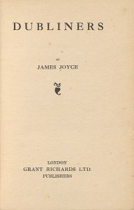 The title page of the first edition in 1914 of Dubliners.