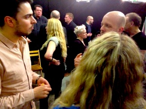 After-show chat at the grouchy Club earlier tonight