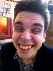 Joz Norris demonstrates his wrinkles