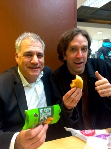 Lewis Schaffer (left) and Will Franken concocted a comedy idea in a McDonalds