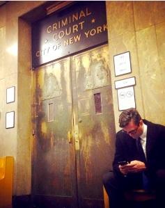 The doors of New York Criminal Court