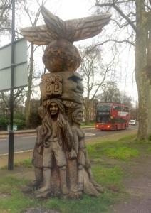 A traditionally Peckham Rye totem pole