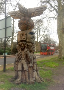 A traditionally Peckham Rye totem pole