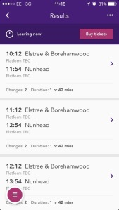 Thameslink phone app