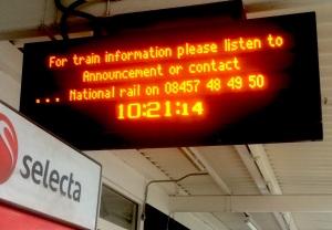 The Thameslink indicator said Listen. I listened. First mistake.