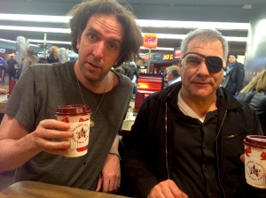 Will Franken (left) and Lewis Schaffer angling for Pret a Manger sponsorship