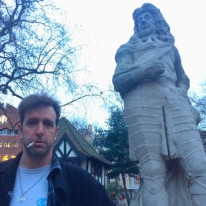 Will Franken and Charles I in Soho Square today