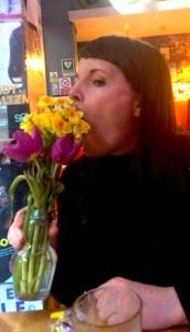 Beth Vyse, eating daffodils