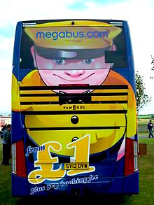 The back end of a MegaBus