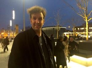 Will Franken outside King's cross station