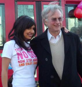 Richard Dawkins publicising the Atheist Bus Campaign which Ariane created in 2009