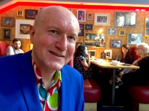 Producer David McGillivray at Soho Theatre yesterday