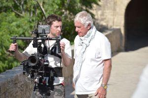 Peter Medak (right) directing The Ghost of Peter Sellars