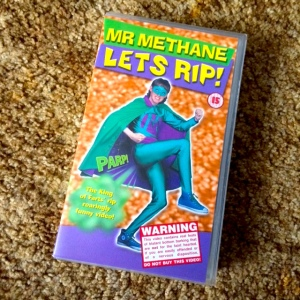 Mr Methane Let's Rip in his VHS release