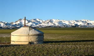 A yurt in Mongolia, not my back garden