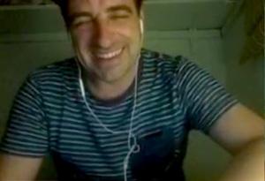 Bleary-eyed but still smiling Matt Roper, early this morning
