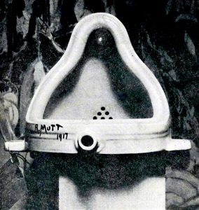 Marcel Duchamp's original 'fountain' by R.Mutt in 1917