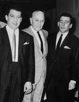 George Raft (centre) with Ronnie (left) and Reggie Kray