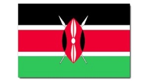The Kenyan national flag