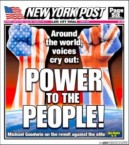 New York Post, 25th June 2016