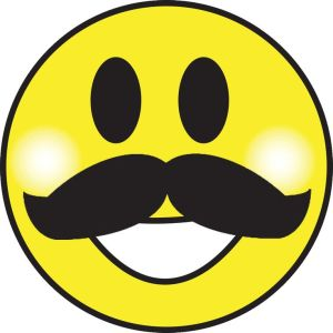 Smiley face with moustache