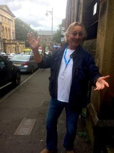Mervyn Stutter in the street this morning
