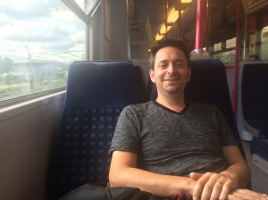 Philip Simon on a Thameslink train with no bull
