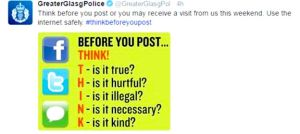Glasgow Police being uncharacteristically sensitive on Twitter