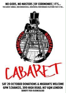 The well-organised Anarchist Bookfair cabaret
