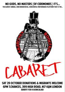 The well-organised Anarchist Bookfair cabaret