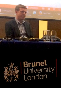 Mark Boosey at Brunel University yesterday