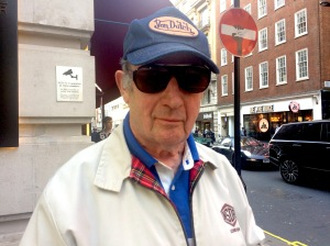 Micky Fawcett outside the May Fair Hotel in London