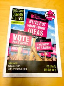 The Leicester Comedy Festival brochure 2017
