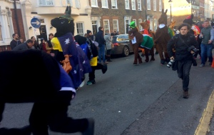 Today's Pantomime Horse Race in Greenwich