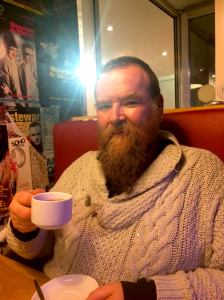 Peter Stanford took tea with me at Soho Theatre