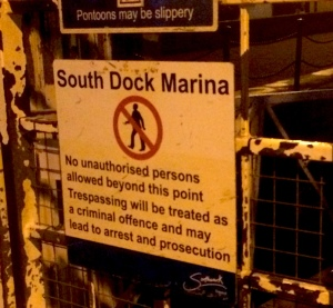 Now under more secure lock and key in South Dock Marina