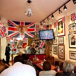 The interior of Cafe Diana in Notting Hill