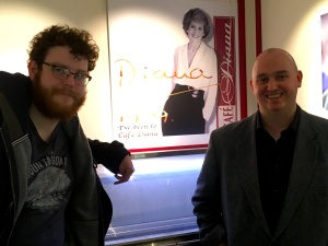 Nathan Willcock (left) and Phil Jarvis pay homage to Princess Diana