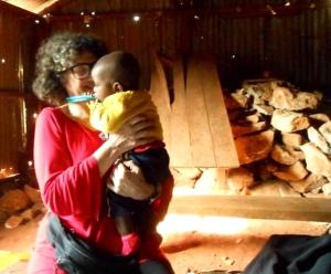 Kate Copstick working for Mama Biashara in Kenya