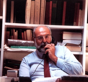 Maurizio Tosi in his office in 1998