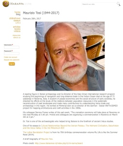 The obituary of Maurizio Tosi which I Googled
